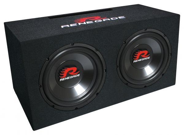 Renegade RXV1002 2 x 25cm Dual-Bassreflex-Box