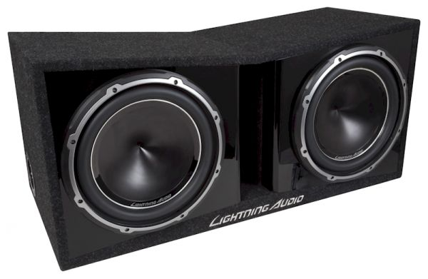 Lightning Audio LA-2X12V 30cm Dual Subwoofer-Box